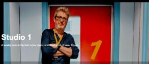 Studio 1 main image showing Matthew Layton leaning against a door